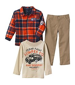 Nannette® Boys' 4-7 3-Piece Lumber Co Tee Set