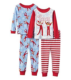 Elf on the Shelf® Boys' 2T-7 4-Piece Always Nice Pajama Set