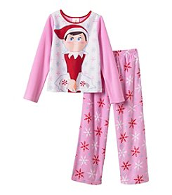 Elf on the Shelf® Girls' 4-10 2-Piece Elf Party Pajama Set