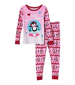 Komar Kids® Girls' 2T-4T 2-Piece Love Snow Days Pajama Set
