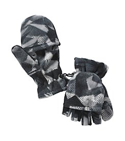 Statements Boys' 4-18 Warm Printed Fleece Flip Gloves