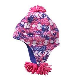 Miss Attitude Girls' 4-16 Warm Printed Fleece Hat