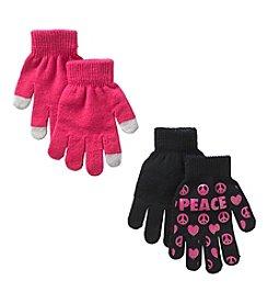 Mambo® Girls' 2-Pack Peace & Love Magic Gloves
