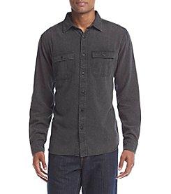 Ocean Current® Men's Solid Burnout Flannel Button Down Shirt