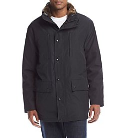 S13 Men's Bonded Midlength Parka with Faux Fur Liner