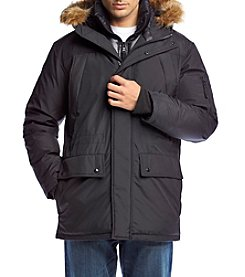S13 Men's Blizzard Microtech Hooded Down Parka With Faux Fur Trim