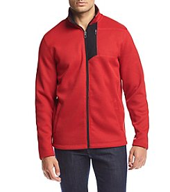 Izod® Men's Shaker Full Zip Fleece