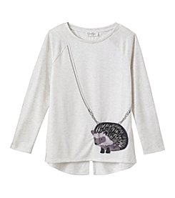 Jessica Simpson Girls' 7-16 Ella Hedgehog Purse Tee