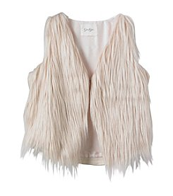 Jessica Simpson Girls' 7-16 Gertrude Fur Vest