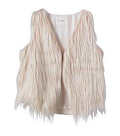 Jessica Simpson Girls' 7-16 Gertrude Fur Vest