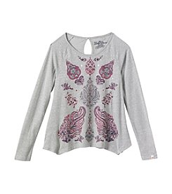Lucky Brand® Girls' 7-16 Paisley Sharkbite Tee