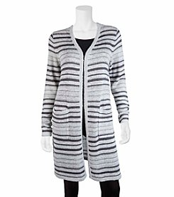 A. Byer Stripe Cardigan Duster