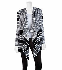 A. Byer Diamond Stripe Drape Cardigan