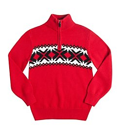 Chaps® Boys' 8-20 Quarter-Zip Nordic Sweater