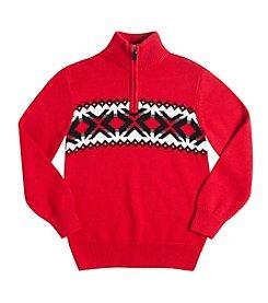Chaps® Boys' 8-20 Quarter-Zip Nordic Sweater