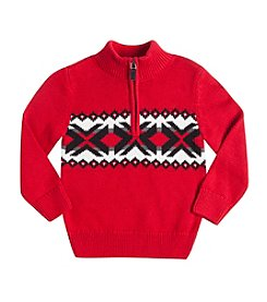 Chaps® Boys' 2T-7 Quarter-Zip Nordic Sweater