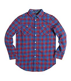 Chaps® Boys' 8-20 Long Sleeve Flannel Shirt