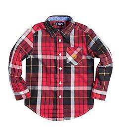 Chaps® Boys' 2T-7 Long Sleeve Poplin Shirt