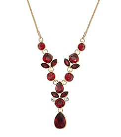Nine West® Red Stone Y Necklace