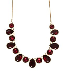 Nine West® Red Stone Frontal Necklace