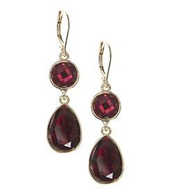 Nine West® Red Stone Drop Earrings