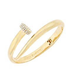 Vince Camuto™ Goldtone Flat Nail Head Hinged Cuff Bracelet