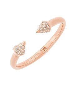 Vince Camuto™ Rose Goldtone Pave Cone Hinged Cuff Bracelet