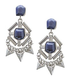 French Connection® Stone And Metal Pyramid Chandelier Earring