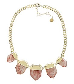 French Connection® Five Stone Frontal Necklace