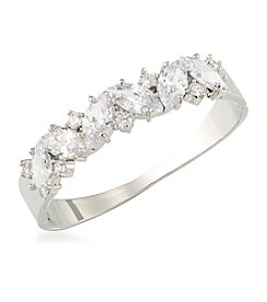 Carolee® Silvertone Cubic Zirconia Bangle Bracelet