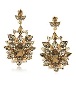 Carolee® Goldtone Statement Chandelier Clip On Earrings