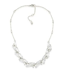 Carolee® Cubic Zirconia Cluster Collar Necklace