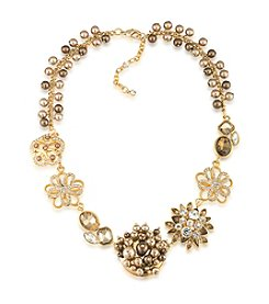 Carolee® Goldtone Flower Frontal Necklace