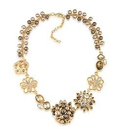 Carolee® Goldtone Flower Frontal Necklace