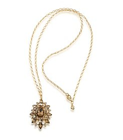 Carolee® Goldtone Brass Pendant Necklace