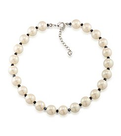 Carolee® Faux Pearl and Bead Collar Necklace