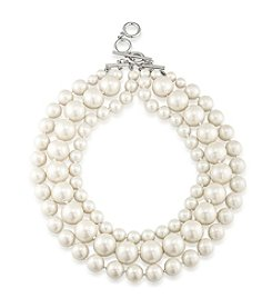Carolee® Faux Pearl Three Row Necklace