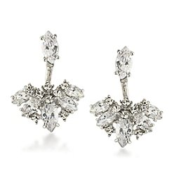 Carolee® Cubic Zirconia Front to Back Earrings