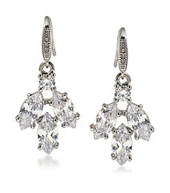 Carolee® Cubic Zirconia Cluster Drop Earrings