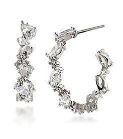 Carolee® Cubic Zirconia Hoop Earrings