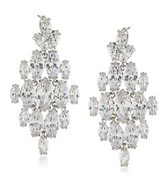 Carolee® Cubic Zirconia Chandelier Earrings