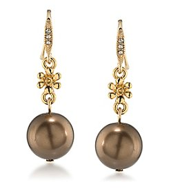 Carolee® Goldtone Double Drop Earrings