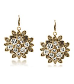 Carolee® Goldtone Cluster Drop Earrings