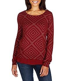 Lucky Brand® Dotted Diamond Sweater