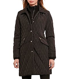 Lauren Ralph Lauren® Double Collar Quilted Walker Coat