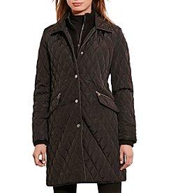 Lauren Ralph Lauren® Double Collar Quilted Walker Coat