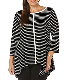 Rafaella® Plus Size Stripe Tunic