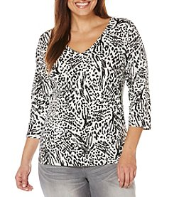 Rafaella® Plus Size Animal Print Top