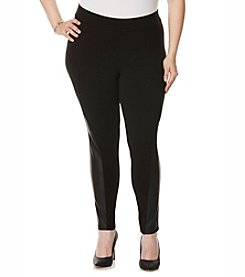 Rafaella® Plus Size Solid Ponte Leggings