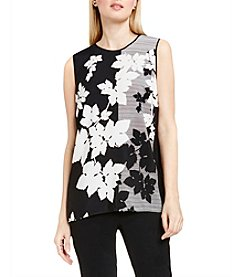 Vince Camuto® Floral Screen Print Tank